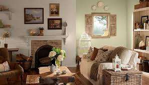Rustic Family Rooms Living Room Interior Wall Decor
