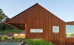 100 Ulnes Mork Designs Corten House In Sonoma Valley California