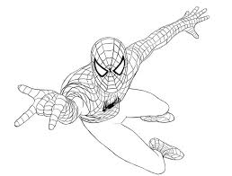 Coloring Pages Pin Drawn Spider Man Page Spiderman Online Free Pdf Games