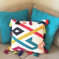 Decorative Lumbar Pillow Target by Hand Woven Tassel Throw Pillow 24