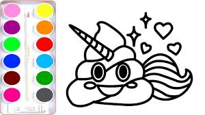 Tested Poop Emoji Coloring Page Unicorn Pages How To Draw For Kids