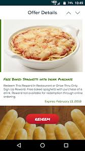 Fazoli's: FREE Baked Spaghetti With Drink Purchase (App ... Pizza Hut Coupons Promo Codes Specials Free Coupon Apps For Android Phones Fox Car Partsgeek July 2019 Kleinfeld Bridal Party Code 95 Restaurants Having Veterans Day Meals In Disney Store 10 Discount Plaquemaker Coupons Tranzind Delivery Twitter National Pasta 2018 Where To Get A Free Bowl And Deals Big Cinemas Paypal April Fazolis Coupon Offer Promos By Postmates Fazoli S Thai Place Boston Massachusetts Ge Holiday Lighting Discount Tire Lubbock Tx 82nd Food Deals On Couponsfavcom