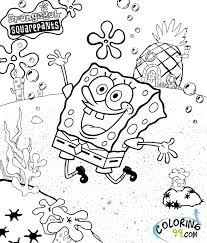 Spongebob Coloring Pages Gary Archives For Squarepants Characters