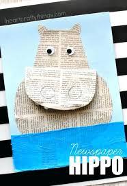 Hippo Crafts For Preschoolers Hippo Craft Crafts Activities