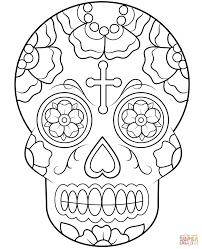 Sugar Skulls Coloring Pages Calavera Skull Printable Candy Medium Size