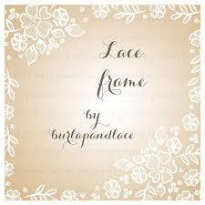 Lace Border Wedding Invitation Illustrations Creative Market