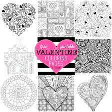 Online Coloring Book Creator Free Valentine S Day Resources Round Up Classic Housewife