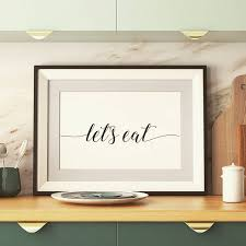Kitchenwallart Lets Eat Instant Download Kitchen Quote Shop Link In Bio EmmittPrints