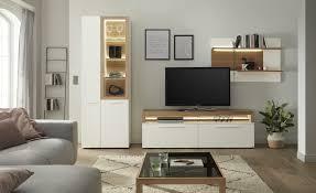 gallery m wohnkombination arrive weiß wohnwände anbauwände möbel kraft
