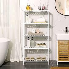songmics standregal bcb35wt badezimmerregal aus bambus weiß kaufen otto