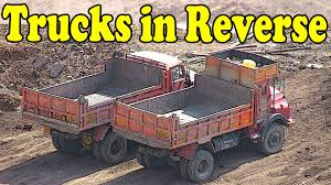CONSTRUCTION Vehicles In REVERSE, Truck Videos For Kids, Toy Truck ...