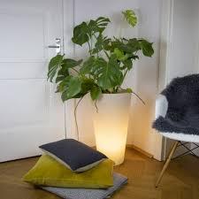mehrfarbiger oder solar led beleuchteter topf für garten oder wohnzimmer vasostar