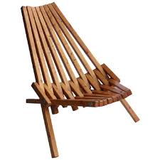 Furniture: Mid Century Wood Folding Lounge Chair For Sale At ...