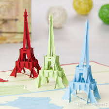 3d Eiffel Tower Greeting Card Fashion Stereoscopic Diy Handmade Art Craft Cards Wish Souvenir 200012 Birth Birthday From Dream12