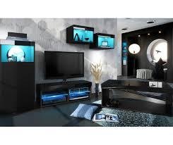 living room set black