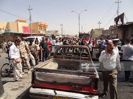 100 The Burnt Truck Iraqi Onlookers And Security Forces Stand Next To A Burnt Pickup