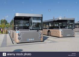 new visitors buses await passengers in mont st michel parking area