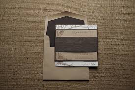 Rustic Wedding Invitation On Kraft Paper Big Tree With Initials
