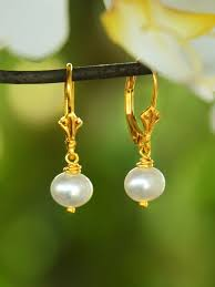 100 Pearl Design Small White Drop Earring