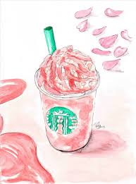 Rhcom A Personal Favorite From My Etsygrubs Starbucks Pink Drink Drawing Thoroughrhcom Pin