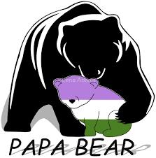 Genderqueer Pride Papa Bear By Lena Adams