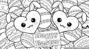 Printable Easter Bunny Coloring Pages For Kids Cartoons