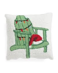 Tj Maxx Christmas Throw Pillows by 16x16 Hand Hooked Adirondack Pillow Holiday Decor T J Maxx
