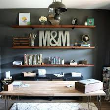 Rustic Home Office Decor Interior Design Work Small Space Ideas Desk