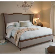 King Platform Bed With Tufted Headboard by Bedroom Grey Upholstered Kingsize Bed With Wing Headboard Using