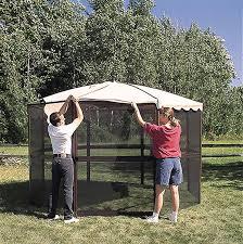 patio mate 10 panel screen enclosure 09322 casita 12 panel screenhouse 23165 brown with