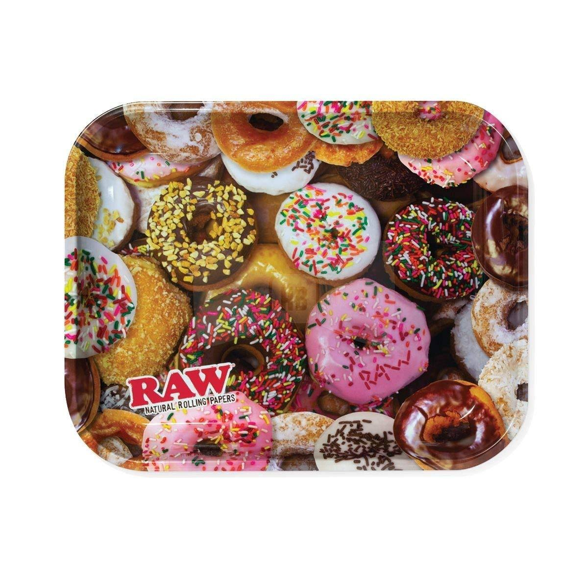 "Raw Delicious Doughnuts Metal Rolling Tray - Large, 14"" x 11"""
