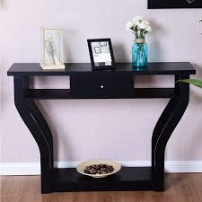 100 Living Room Table Modern Giantex Accent Console Sofa Entryway Hallway Wood