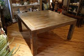 Square Wood Dining Table DRK Architects In Rustic Decorations 4