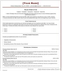 Sales Template For Resume