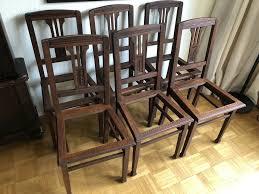 6 holzstühle jugendstil braun dunkelbraun stühle esszimmer