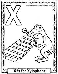 X Coloring Page Pages
