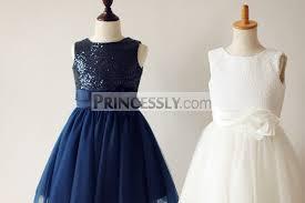 white navy blue pink sequin tulle flower girl dress matching