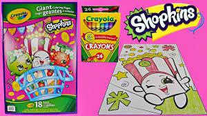 Fun SHOPKINS Speed Coloring POPPY CORN W Crayola Crayons
