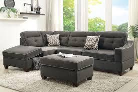 Poundex 3pc Sectional Sofa Set 3 pcs sectional sofa sectional sofa bobkona furniture