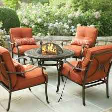 Mainstays Patio Furniture Replacement Cushions by Martha Stewart Living Cold Spring 5 Piece Patio Fire Pit Set With