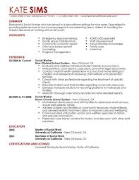 Pleasant Resume Profile Examples Social Work With Services Objective And Example Of