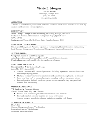 Resume Example II Limited Work Experience Vickie L Morgan