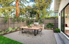 Patio Area Backyard Gravel With Dining Table And Outdoor Kitchen Braai Ideas Large