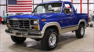 100 1982 Ford Truck Bronco Blue YouTube