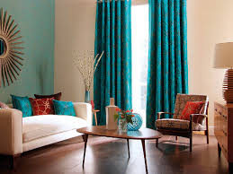 teal living room curtains