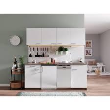 respekta küchenzeile kb195eywc 195 cm weiß eiche york nachbildung