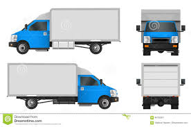 100 Commercial Truck And Van Blue Template Cargo Vector Illustration EPS 10 Isolated