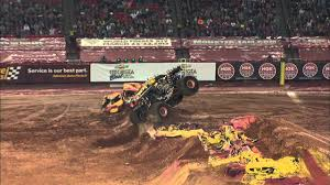 100 Monster Trucks Atlanta Jam MaxD Freestyle From Feb 16 2013 YouTube