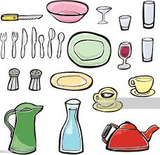 Dining Room Utensils And Implements Vector Art