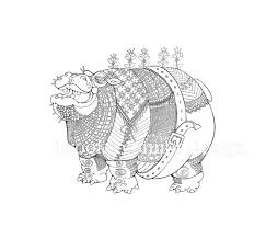 Items Similar To Fat Hippo Hippopotamus Coloring Page Adults And Smart Children On Etsy